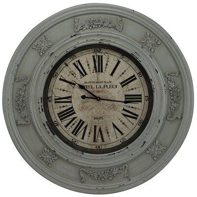 Randolph Wall Clock in Distressed Light Blue