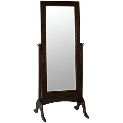 Cooper Classics Oakes Cheval Mirror in Distressed Tobacco