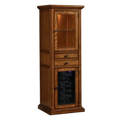 Tresanti 18 Bottle Meridian Wine Curio in Premium Oak
