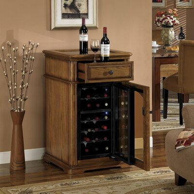 18 Bottle Bordeaux Wine Cabinet in Premium Oak