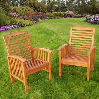 Home Loft Concept Wood Lounge Chair (Set of 2)