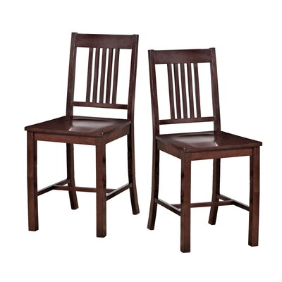 Home Loft Concept Mission Back Barstool (Set of 2)