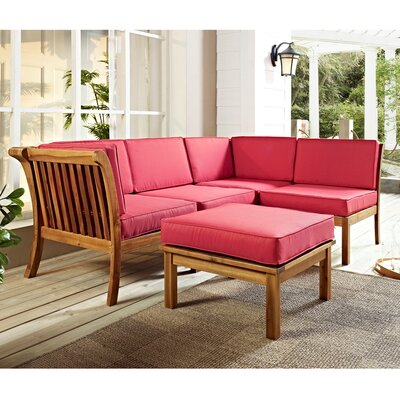 Patio Sectional Piece with Cushion