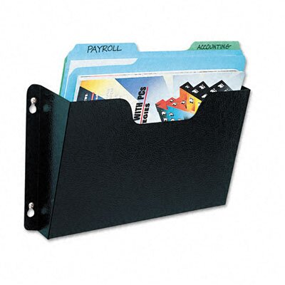Buddy Products Dr. Pocket Steel Add-On/Single Pocket Wall File, Letter, Black