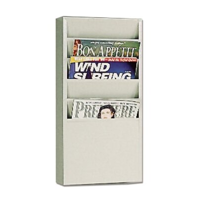 "Buddy Products 5 Pocket Literature Display Rack, 9-1/8""x3/4""x10-5/8"", Putty"