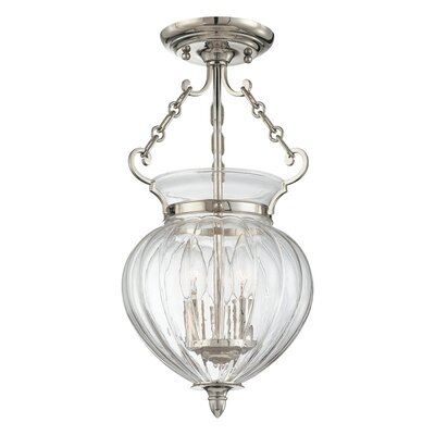 "Hudson Valley Lighting Gardner 9.25"" 3 Light Semi Flush Mount"