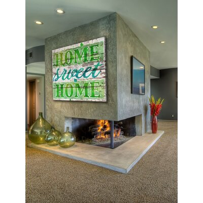Jen Lee Art Home Sweet Home Reclaimed Wood - White Barn Siding Art