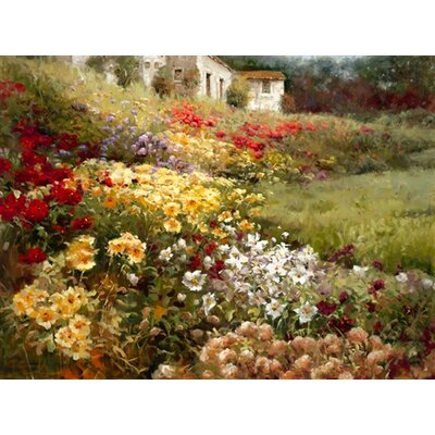 North American Art Hillside Garden Canvas Wall Art