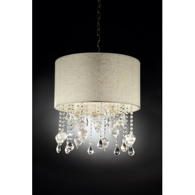 Drape 3 Light Crystal Pendant