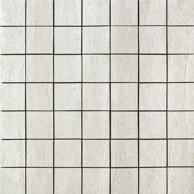 "Samson Tile Travertini 2"" x 2"" Matte Mosaic Floor and Wall Tile in Grigio"