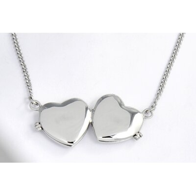Stainless Steel Double Heart Locket Necklace