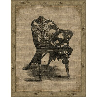 Epic Art Garden Chair (Antique Linen) Wall Art in Dark and Light Brown