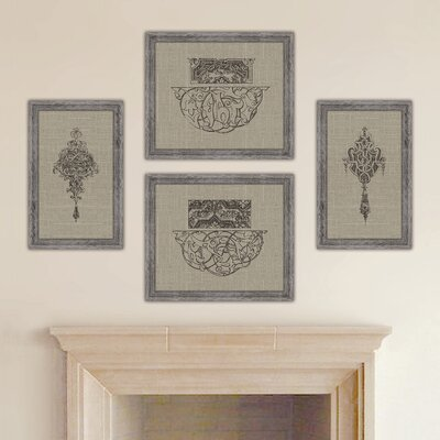 Style Francis Distressed Taupe Linen Wall Art Collection