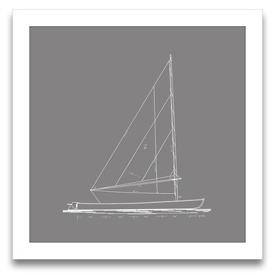 Epic Art Sail Away Sailboat Blueprint II Wall Art