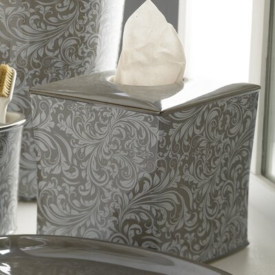 Trump Home Bedminister Scroll Tissue Holder in Flint Grey