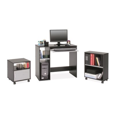 Regency Computer Desk Set with Mobile File and Bookcase