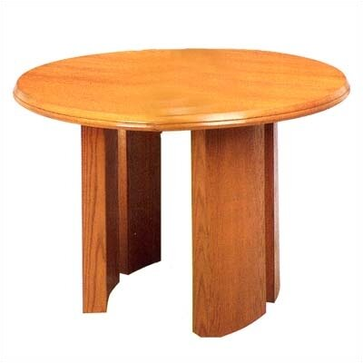 Lesro Contemporary Series Round Gathering Table (Split Curved Panel Base)