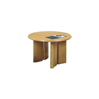 Lesro Contemporary Series 48&quot; Round Gathering Table with Radius Profile (Split Curved Panel Base)