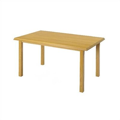 "Lesro Contemporary Series 48"" Rectangular Gathering Table with Radius Profile (4 Post Base)"