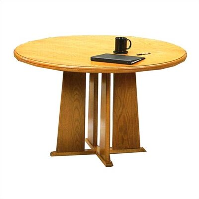 Lesro Contemporary Series 36&quot; Round Gathering Table with Radius Profile (Tapered Base)