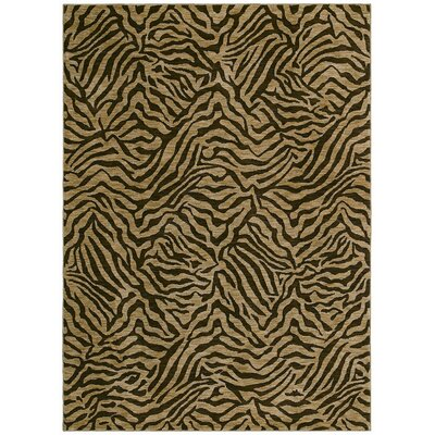 Home Nylon West Indies Safari Brown Novelty Rug