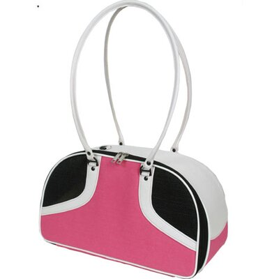 Petote Roxy Pet Carrier in Hot Pink and White