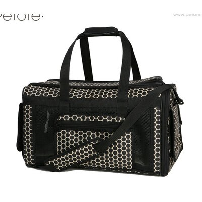 Petote Carle Pet Carrier in Reverse Noir Dots