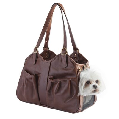 Petote Metro Couture All Leather Dog Carrier