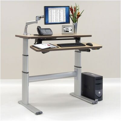 "Workrite Ergonomics 48"" Wide Rectangular Bi-Level Premium Dual Surface Workcenter"