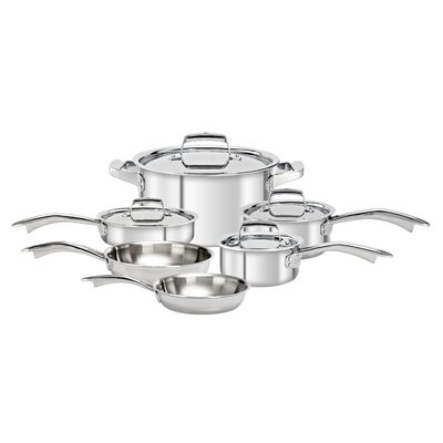 Zwilling JA Henckels TruClad 3-Ply Stainless Steel 10-Piece Cookware Set