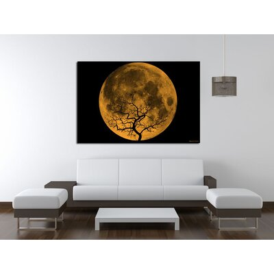 Maxwell Dickson Orange Moon Canvas Print