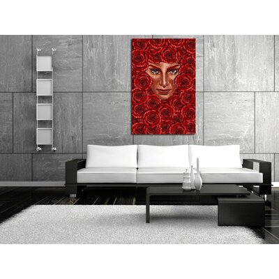 Maxwell Dickson Rose Bed Canvas Print