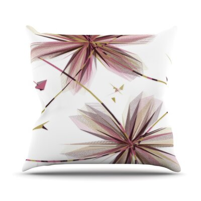 KESS InHouse Flower Throw Pillow