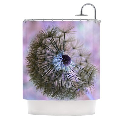 KESS InHouse Dandelion Clock Polyester Shower Curtain