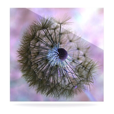 KESS InHouse Dandelion Clock Floating Art Panel