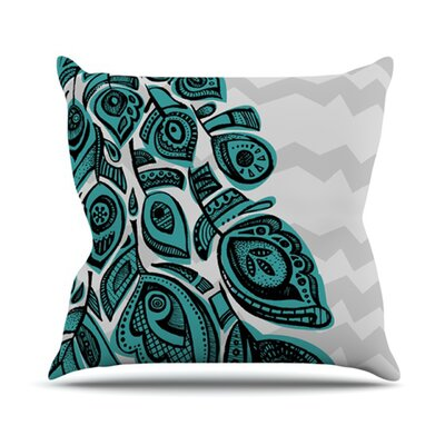 KESS InHouse Peacock Throw Pillow