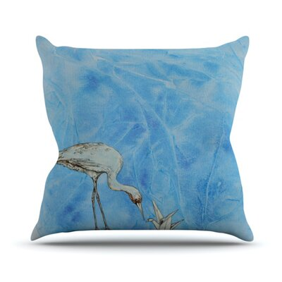 KESS InHouse Crane Throw Pillow