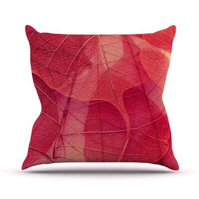 KESS InHouse Delicate Leaves Throw Pillow