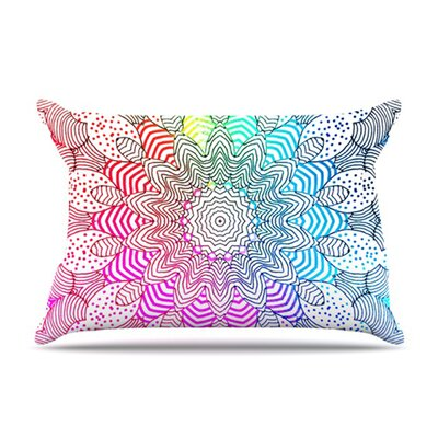 KESS InHouse Rainbow Dots Fleece Pillow Case