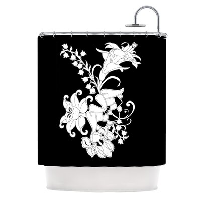 KESS InHouse My Garden Polyester Shower Curtain