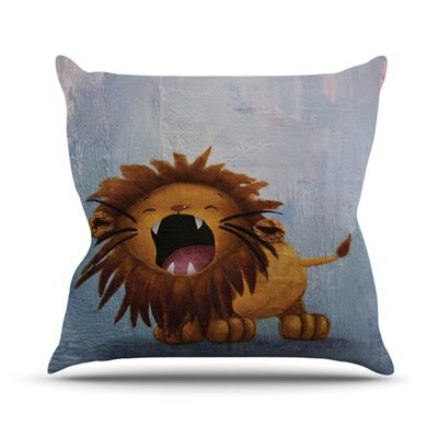 KESS InHouse Dandy Lion Throw Pillow