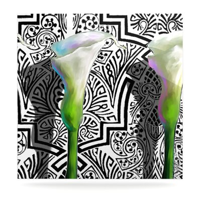 KESS InHouse Three Lily Floating Art Panel