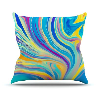 KESS InHouse Rainbow Swirl Throw Pillow