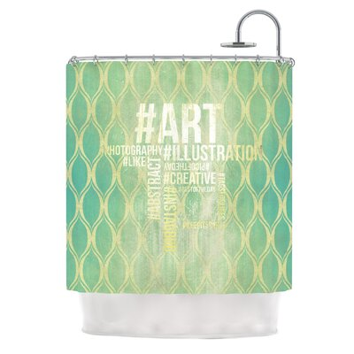 KESS InHouse Hashtag Polyester Shower Curtain