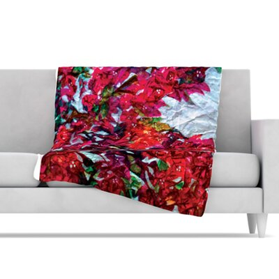 KESS InHouse Bougainvillea Fleece Throw Blanket
