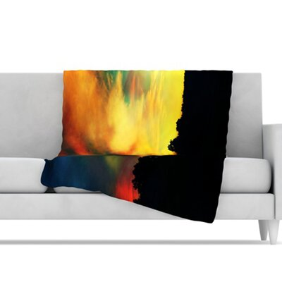 KESS InHouse A Dreamscape Revisited Microfiber Fleece Throw Blanket