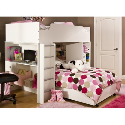 South Shore Logik Twin over Twin L-Shaped Bunk Bed with Desk