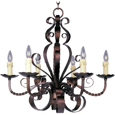 Aspen 6 Light Candle Chandelier