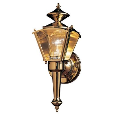 Maxim Lighting Builder Brass Wide Outdoor Wall Lantern