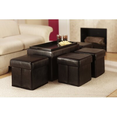 Convenience Concepts Designs4Comfort Manhattan Storage Bench with Collapsible Ottoman Set